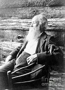 Activism Framed Prints - John Burroughs, American Naturalist Framed Print by Photo Researchers