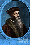 Clergyman Framed Prints - John Calvin, French Theologian Framed Print by Omikron