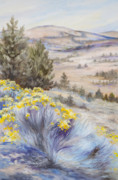 Juniper Paintings - John Day Valley I by Patricia Baehr-Ross