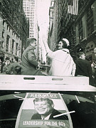 Ticker Tape Parade Posters - John F. Kennedy And Jacqueline Kennedy Poster by Everett