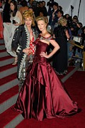 Red Dress Posters - John Galliano, Charlize Theron Wearing Poster by Everett