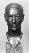 Portrait Sculpture Photograph Prints - John Galsworthy (1867-1933) Print by Granger
