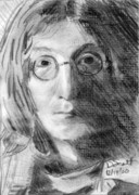George Harrison Drawings - John Lennon by Daniel Scott