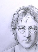 The Beatles John Lennon Drawings - John Lennon  by Khromykh Natalia