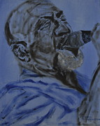 Lead Vocalist Paintings - John Mays by Michael Titherington