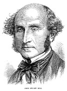 Sideburns Prints - John Stuart Mill Print by Granger