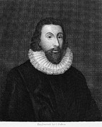 Winthrop Framed Prints - John Winthrop (1588-1649) Framed Print by Granger