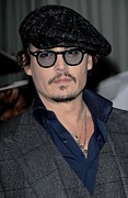 Johnny Framed Prints - Johnny Depp At Arrivals For Playboy Framed Print by Everett