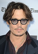 Mustache Framed Prints - Johnny Depp At Arrivals For The Rum Framed Print by Everett