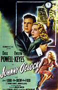 Johnny Framed Prints - Johnny Oclock, Dick Powell, Evelyn Framed Print by Everett