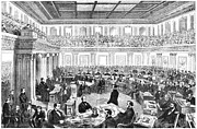 Trial Prints - Johnson Impeachment, 1868 Print by Granger