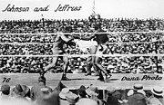 African-american Photo Framed Prints - Johnson Vs. Jeffries, 1910 Framed Print by Granger