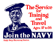 Vet Posters - Join The Navy Poster by War Is Hell Store