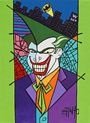 Gotham City Painting Framed Prints - Joker Framed Print by Erik Pinto