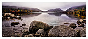Jordan Photo Framed Prints - Jordan Pond Framed Print by Chad Tracy