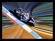 Motogp Prints - Jorge Lorenzo Print by Blake Richards