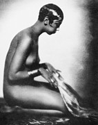 Burlesque Painting Metal Prints - Josephine Baker (1906-1975) Metal Print by Granger