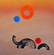 Elephants Digital Art Originals - Joy by Charles Stuart