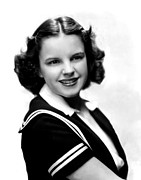 Colbw Photo Prints - Judy Garland, Portrait Print by Everett