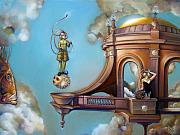 Imaginary Realism Paintings - Jugglernautica by Patrick Anthony Pierson