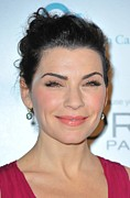 Diamond Earrings Posters - Julianna Margulies At Arrivals Poster by Everett