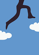 Ambition Posters - Jumping between clouds Poster by Sofia Wrangsjo