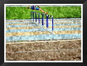 Sports Digital Art Metal Prints - Jumping The Obstacles Metal Print by John Vito Figorito