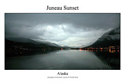 Signed Photo Framed Prints - juneau Sunset Framed Print by William Jones
