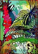 Gesture Digital Art Prints - Jungle Boogie Print by Mindy Newman