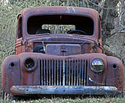 Abandoned Cars Prints - Just Rusting Print by John Stephens