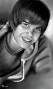 Justin Bieber Paintings - Justin by Lisa Pence