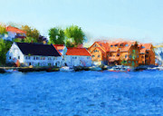 Harbour Mixed Media Prints - Kai Haugesund Print by Michael Greenaway