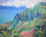 Marionette Paintings - Kalalau Valley by Marionette Taboniar