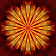 Indiana Photography Prints - Kaleidoscope of Fire Print by Mark Lopez