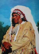 Indian Pastels Prints - Kansas Indian Print by Andrea Inostroza