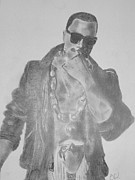 Kanye West Drawings Originals - Kanye West by Estelle BRETON-MAYA