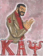 African-american Mixed Media Posters - Kappa Alpha Psi Fraternity Inc Poster by Tu-Kwon Thomas