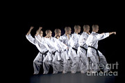 Stroboscopic Photos - Karate Expert by Ted Kinsman