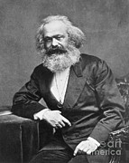 Marxism Framed Prints - Karl Heinrich Marx, German Polymath Framed Print by Photo Researchers