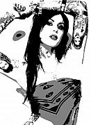 Tattoos Paintings - Kat Von D by Dan Carman