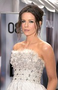 Silver Embroidery Prints - Kate Beckinsale Wearing An Elie Saab Print by Everett
