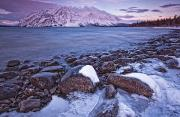 Natural Reserve Posters - Kathleen Lake At Sunrise, Kluane Poster by Robert Postma