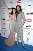 Brand Prints - Katy Perry, Russell Brand At Arrivals Print by Everett