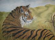 The Tiger Paintings - Kaziranga rani by Corinne Dell Aria