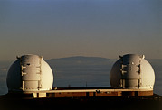 Mauna Kea Photos - Keck Telescope Domes by G. Brad Lewis