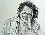 Keith Richards Drawings - Keef by Pete Maier