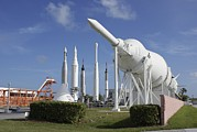 Educational Prints - Kennedy Space Center Rocket Garden Print by Mark Williamson
