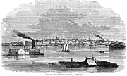 American City Prints - Kentucky: Louisville, 1854 Print by Granger