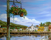 City Flowers Paintings - Ketchikan by Pete Maier