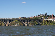 Georgetown Metal Prints - Key Bridge over the Potomac River Metal Print by Brendan Reals